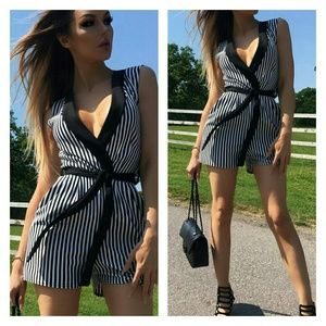 ONE LEFT! Striped romper